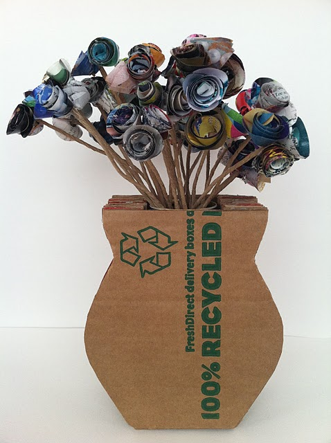 cardboard-vase-with-paper-made-flowers